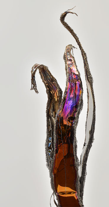 colored stainless steel sculpture | unique artwork
